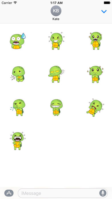 Lovely Turtle Stickers screenshot 3