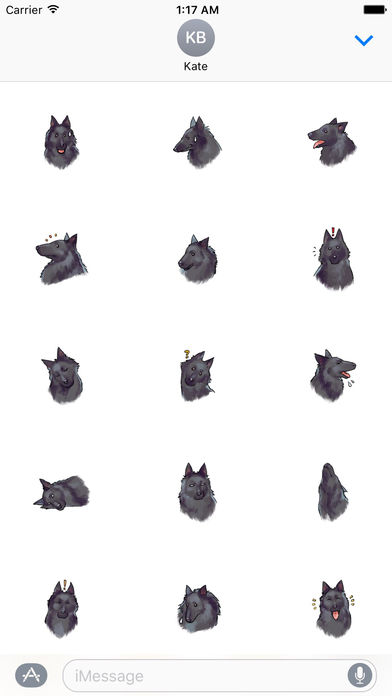 Lovely Belgian Sheepdog Stickers screenshot 1