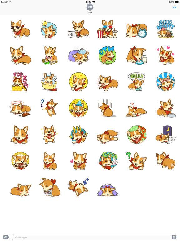 Cute And Lovely Corgi Stickers screenshot 4