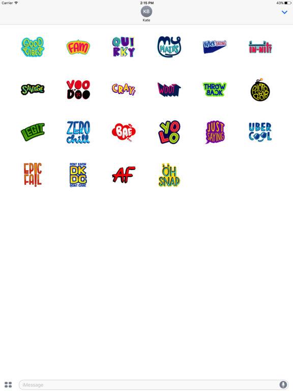 Trendy Lingo Stickers screenshot 5