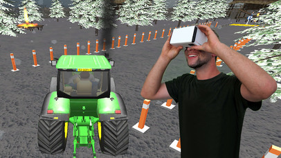 VR Farming Tractor Parking Driver - More Village screenshot 1