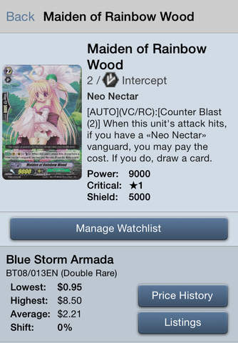 Card Prices: Cardfight!! Vanguard Edition - náhled