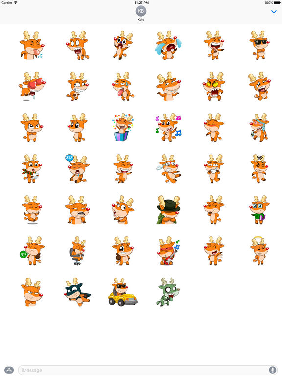 Rudolph The Cute And Sly Reindeer Stickers screenshot 4
