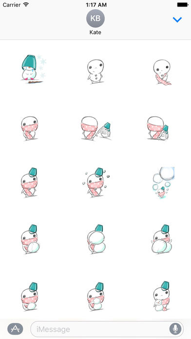 Xmas Of Lonely Snowman Stickers screenshot 1