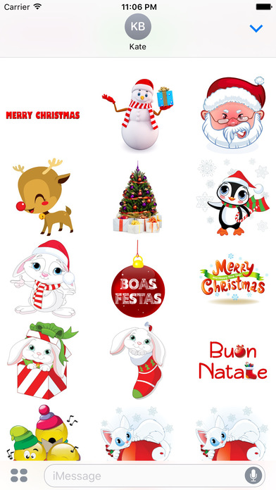Sweet Christmas Stickers for iMessage screenshot 1