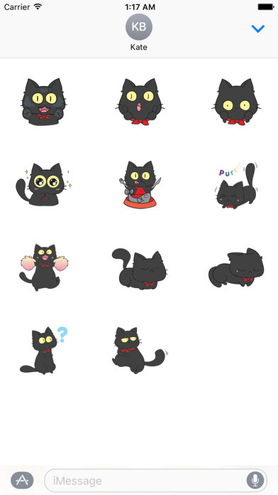 Black Munchkin Kitten The Shortest Leg Cat Sticker screenshot 3