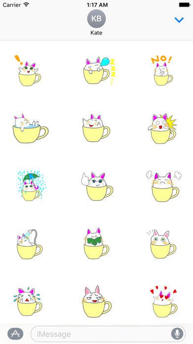 Cute icat Stickers screenshot 2