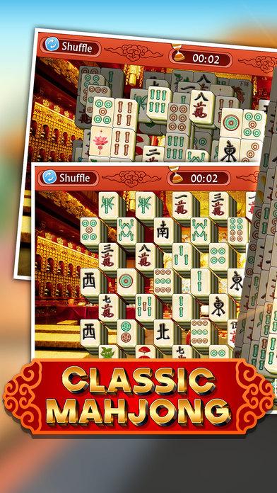 Majong Classic 3D - Mahjong Deluxe Pro screenshot 1