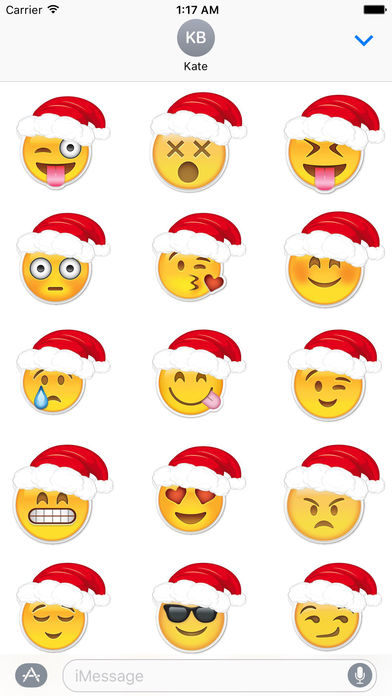 Emoji Stickers For Merry Christmas screenshot 1