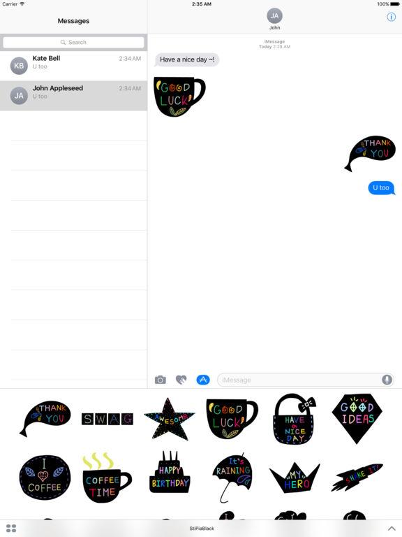 StiPia - BlackChat Stickers screenshot 7