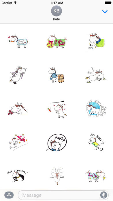 So Cute Horse Stickers screenshot 1