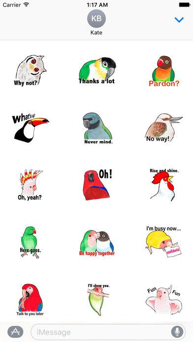 Many Various Beautiful Birds Stickers screenshot 1
