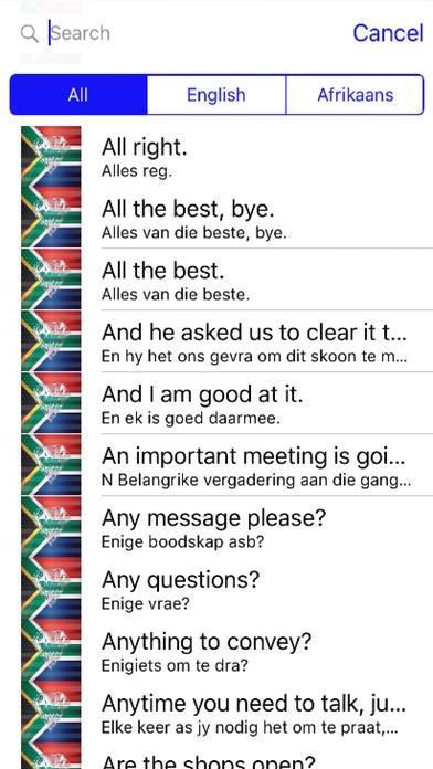 Afrikaans Phrases Diamond 4K Edition screenshot 1