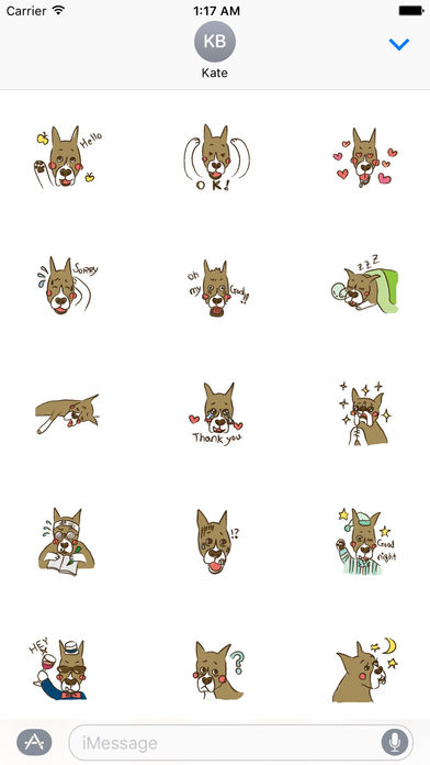 Lovely Boxer Dog Emoji Sticker screenshot 1
