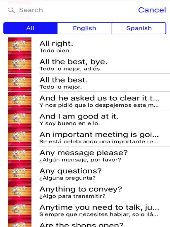 Spanish Phrases Diamond 4K Edition screenshot 4
