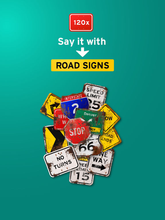 100+ Aged Road Signs Sticker Pack (Rusty) screenshot 5