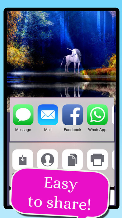 Unicorn Wallpaper Maker – Add your own text! screenshot 3