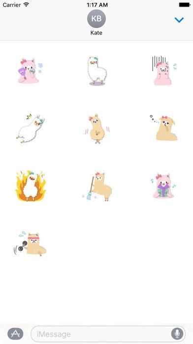 Adorable Alpaca Emoji Sticker screenshot 3