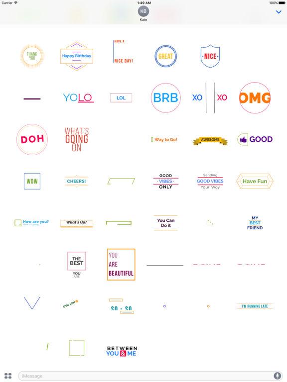 TypoChat -Minimal Animated Typography Chat Message screenshot 6