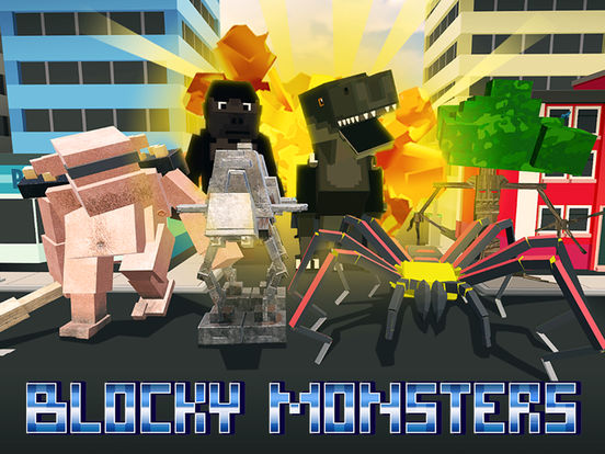 Blocky Monsters Smash Full screenshot 5