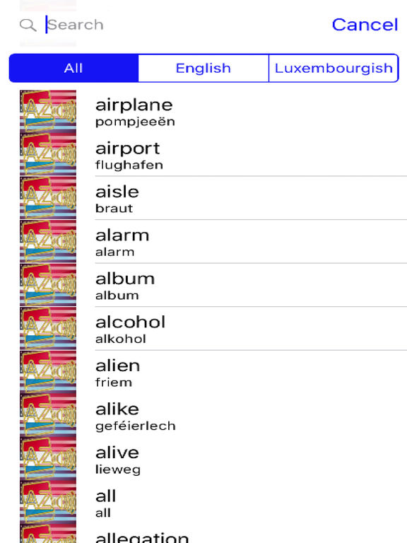 Luxembourgish Dictionary GoldEdition screenshot 8