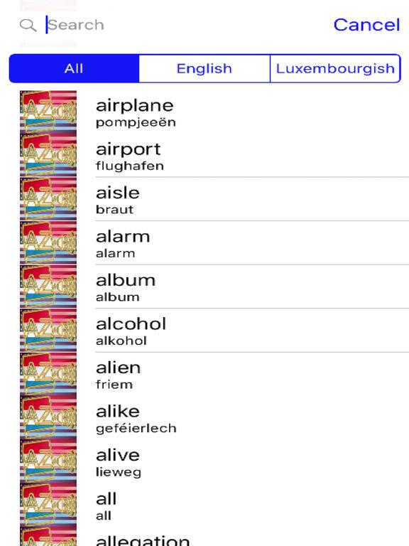 Luxembourgish Dictionary GoldEdition screenshot 8