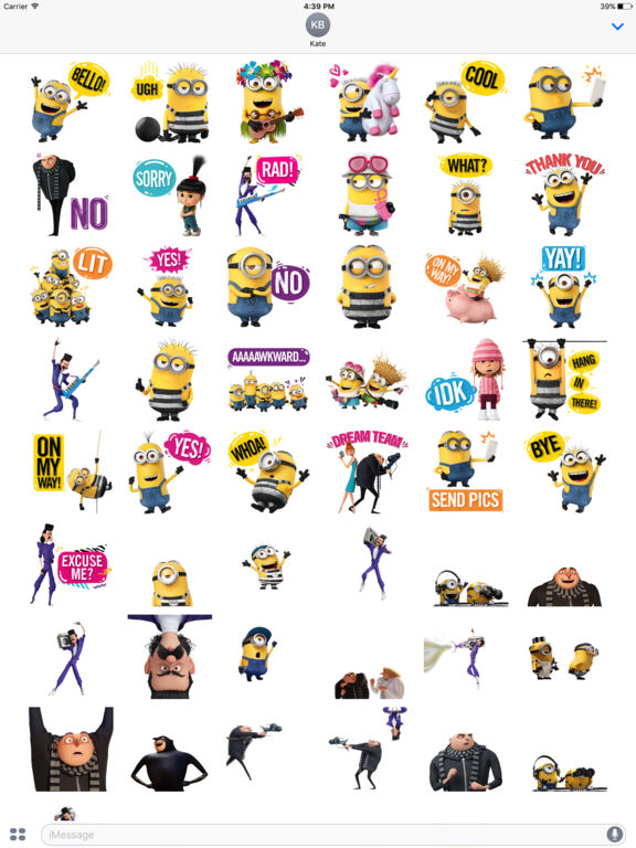Despicable Me 3 Stickers screenshot 6