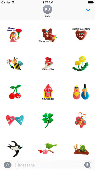 Adorable Colorfull Clay Stickers screenshot 1