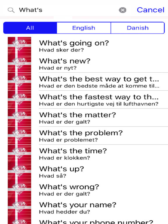 Danish Phrases Diamond 4K Edition screenshot 5