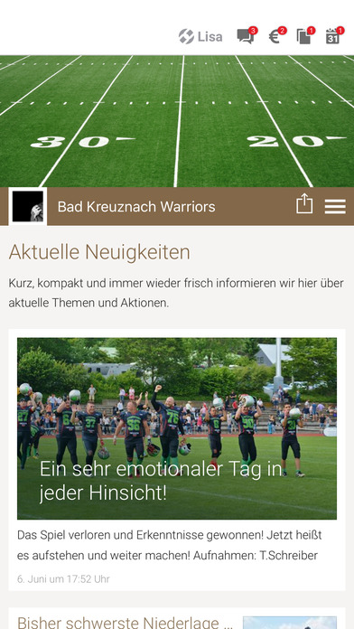 Warriors Bad Kreuznach screenshot 1