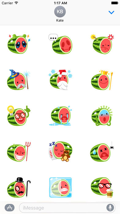 Funny Watermelon Emoji Stickers screenshot 2