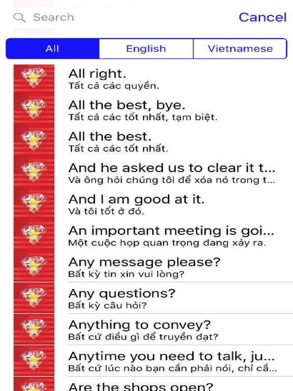 Vietnamese Phrases Diamond 4K Edition screenshot 4