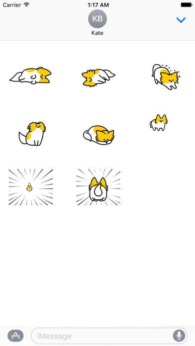 Cute Puppy Animated Sticker screenshot 2