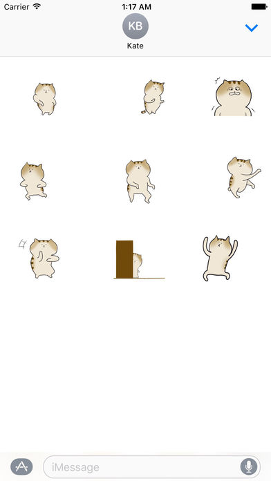 Animated Crazy Cat Dancing Stickers screenshot 2