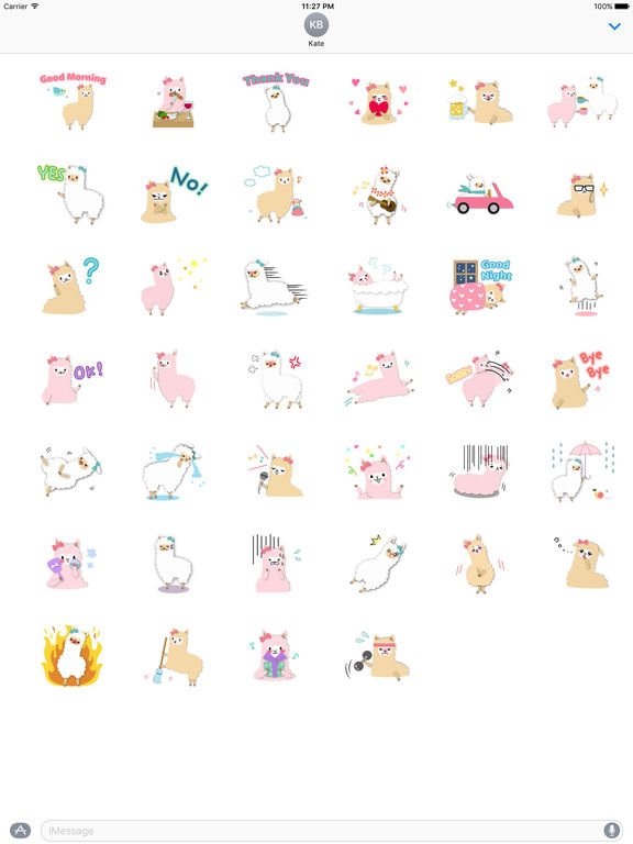 Adorable Alpaca Emoji Sticker screenshot 4