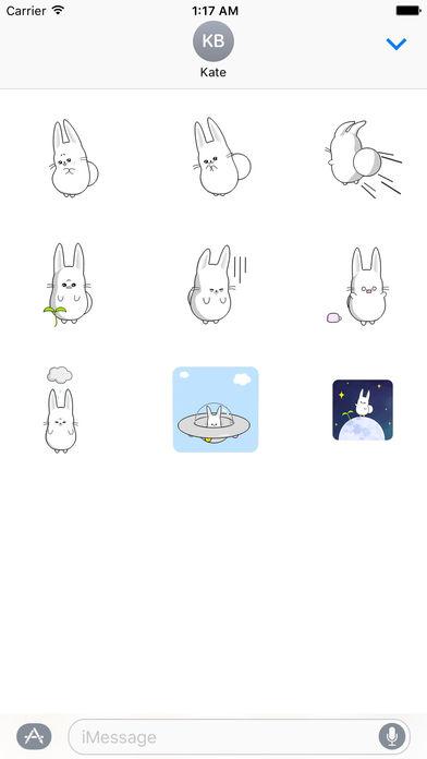 Fast Animated - Funny Cute Rabbit Sticker screenshot 2