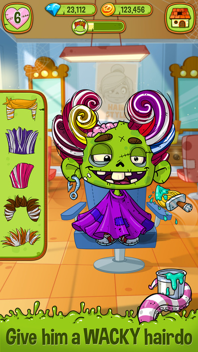 Zedd the Zombie - Grow Your Wacky Friend screenshot 2