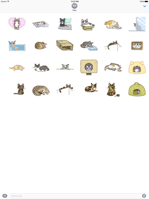 Adorable and Lazy Cat Animated Stickers screenshot 3