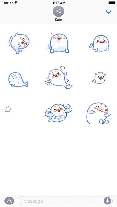 Happy Seal in Summer Animated Stickers screenshot 2
