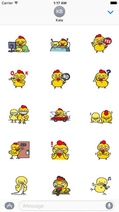 Father and Son Chicken Sticker screenshot 2