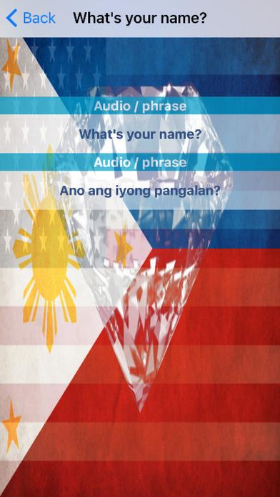 Filipino Phrases Diamond 4K Edition screenshot 3