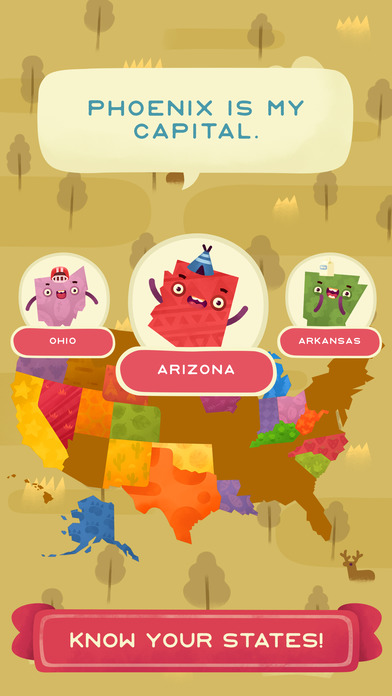 50 States - Top Education & Learning Stack Games screenshot 3