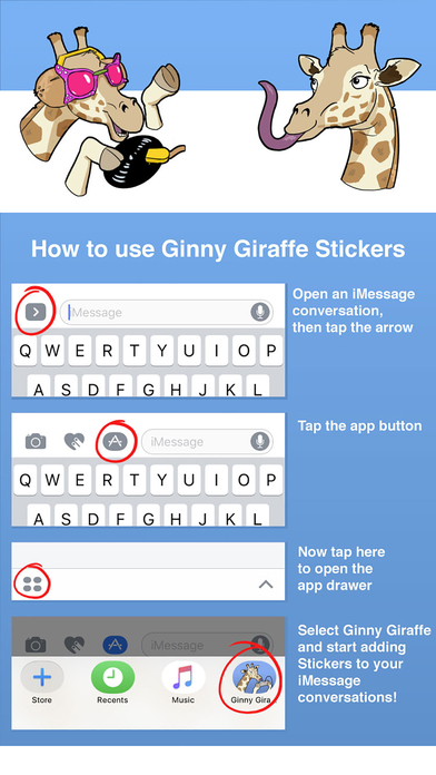 Ginny Giraffe: Animal Sticker Pack screenshot 2