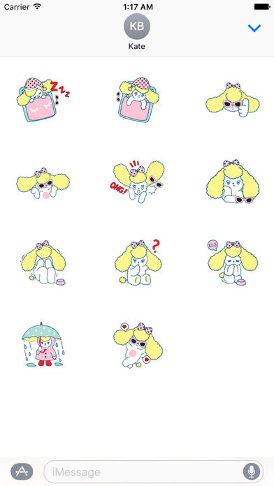 Hillary The Adorable Puppy Sticker screenshot 3