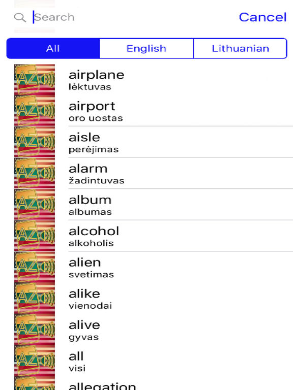 Lithuanian Dictionary GoldEdition screenshot 8