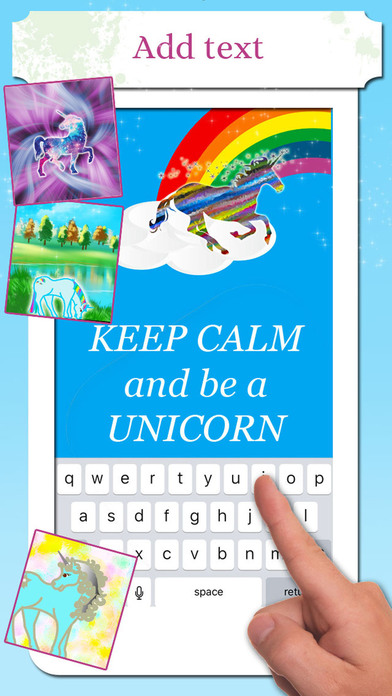 Unicorn Wallpaper Maker – Add your own text! screenshot 2
