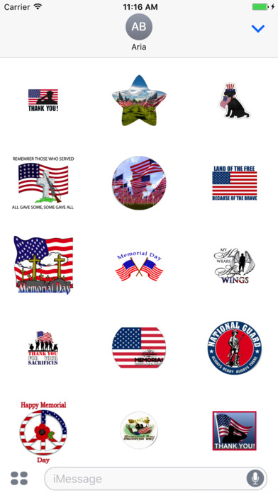 Memorial Day 2017 Sticker screenshot 1
