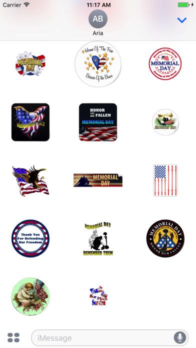 Memorial Day 2017 Sticker screenshot 3