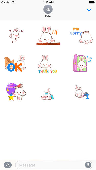 Animated Happy Rabbit and Squirrel Stickers screenshot 2
