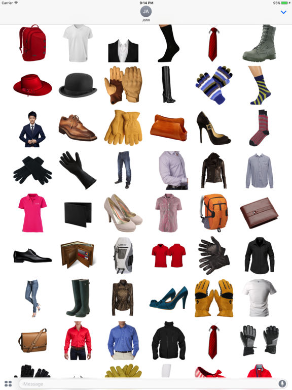Clothing Stickers for iMessage screenshot 4